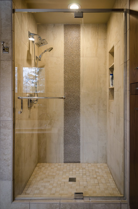 Tiled Shower Glass Accent 690 Mx 690 M