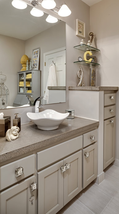 Grey Painted Vanity Cabinet 690 Mx 690 M