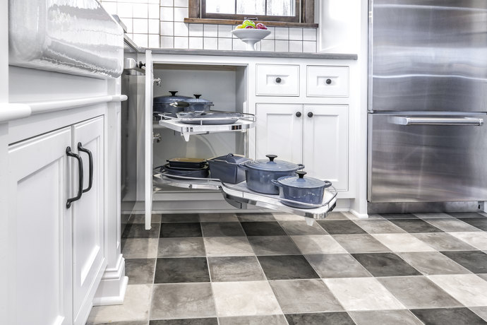 Gingham Patterned Floor Tiles 690 Mx 690 M